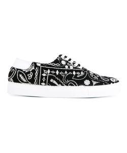 Joshua Sanders | Paisley Sneakers 38 Leather/Wool/Rubber
