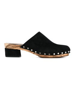Proenza Schouler | Stud Trim Clogs 35 Leather/Suede/Wood