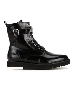 Love Moschino | Buckled Detailing Combat Boots Womens Size 40 Calf