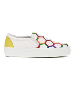 Simon Scott | Honeycomb Print Slip On Sneakers 38
