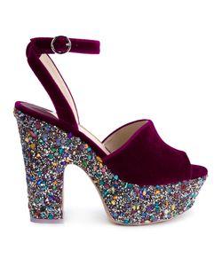 Sophia Webster | Havisham Platform Sandals 40.5 Leather/Velvet