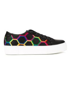 Simon Scott | Honeycomb Print Lace Up Sneakers 37