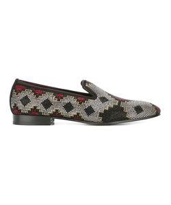 Louis Leeman | Crystal Embellished Slippers 42 Silk/Leather/Swarovski Crystal