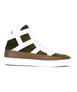 Louis Leeman | Lace-Up Hi-Top Sneakers 42 Leather/Suede/Rubber