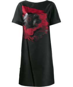 OSMAN | Poppy Embroidered Shift Dress 14 Silk/Polyester