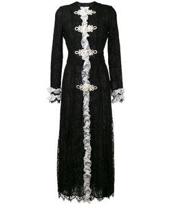Alessandra Rich | Ruffled Lace Maxi Dress 38 Silk/Cotton/Viscose