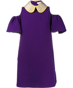Delpozo | Cut-Out Shoulder Mini Dress 34 Acetate/Viscose/Virgin Wool