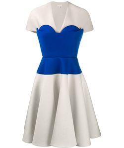 Delpozo | Bustier Panel A-Line Dress 38 Cotton/Acetate/Viscose