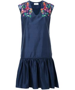 Megan Park | Tula Ruffle Hem Dress 10 Silk/Viscose