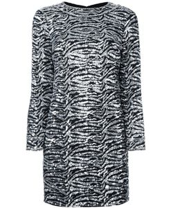 Saint Laurent | Sequin Embellished Shift Dress 40 Polyester/Wool/Silk