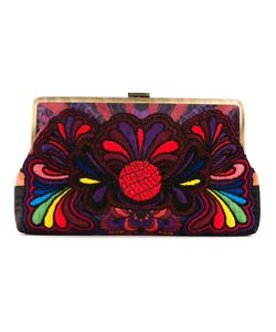Sarah's Bag | Sarahs Bag Paisley Embroidery Clutch Bag