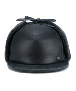 Maison Michel | Milton Hunting Cap Small Leather/Wool