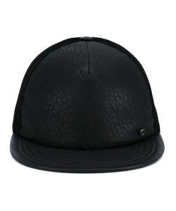 Maison Michel   Flat Peak Cap Small Leather