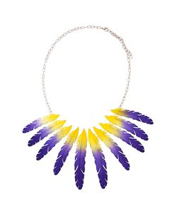 Olgafacesrok | Feather Pendant Chain Necklace