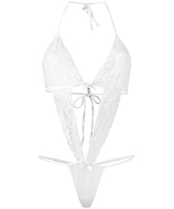 Folies By Renaud | Cut-Out Lace Bodysuit Nylon