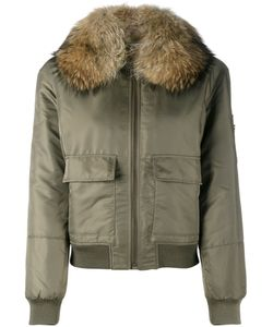 Yves Salomon | Fur Lined Bomber 38 Rabbit Fur/Polyester/Racoon