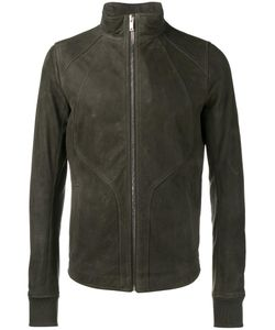 Rick Owens | Zipped Leather Jacket 50 Cotton/Calf Leather/Cupro