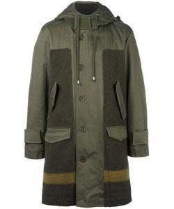 Cy Choi   Hooded Panelled Coat 46 Cotton/Acrylic/Nylon/Wool