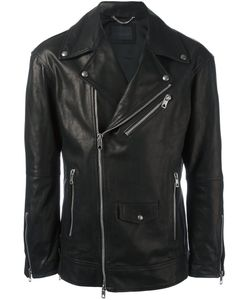 Diesel Black Gold | Loghan Biker Jacket 44 Polyester/Acetate/Cupro/Bullhide Leather