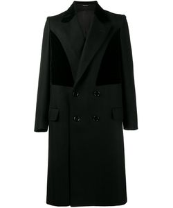 Alexander McQueen | Contrast Panel Coat 52 Cotton/Viscose/Virgin Wool