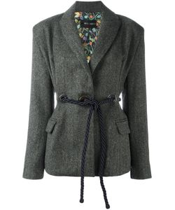 Michel Klein | Belted Fitted Jacket 40 Wool