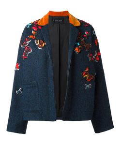 Michel Klein | Butterflies Embroidered Jacket 38 Wool