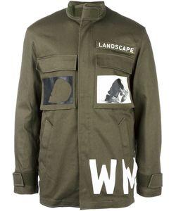 Cy Choi   Printed Military Jacket 50 Cotton/Acrylic/Nylon/Wool