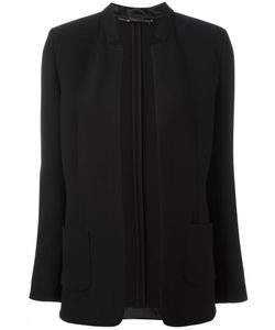 Les Copains | Detailed Lapel Blazer 42 Silk/Polyamide/Spandex/Elastane/Virgin Wool