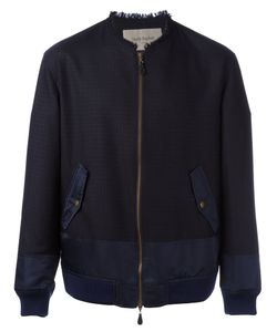 CASELY-HAYFORD | Frayed Neck Bomber Jacket 40 Nylon/Cupro/Wool