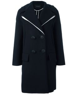 Cedric Charlier | Cédric Charlier Contrasting Detail Coat 36 Polyamide/Acetate/Rayon/Wool