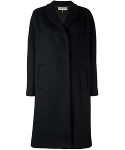 Emilio Pucci | Concealed Fastening Coat 42 Silk/Cupro/Cashmere/Virgin Wool