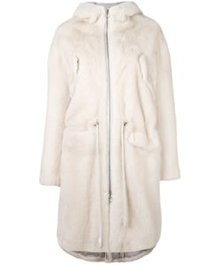 SPRUNG FRERES | Sprung Frères Fur Hooded Parka Coat Medium Silk/Mink