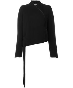 Ann Demeulemeester | Asymmetric Curve Zip Front Cropped Jacket 36