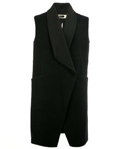 A NEW CROSS | Shawl Lapel Sleeveless Jacket Small