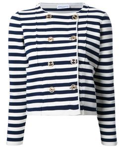 Sonia Rykiel | Striped Fitted Jacket Large Polyester/Cashmere/Virgin Wool