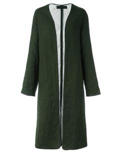 Haider Ackermann | Collarless Quilted Coat 36 Cotton/Rayon/Virgin Wool