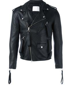 MATTHEW MILLER | Biker Jacket Medium Leather/Acetate/Viscose