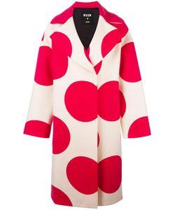 MSGM | Polka Dots Print Coat 40 Polyamide/Viscose/Wool