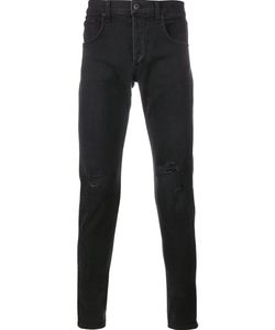 Rag & Bone | Distressed Skinny Jeans 32 Cotton/Polyurethane
