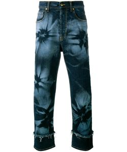 James Long | Hibiscus Print Jeans 38 Cotton/Spandex/Elastane