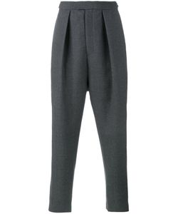 Curieux | Pleated Tapered Trousers Xl Wool