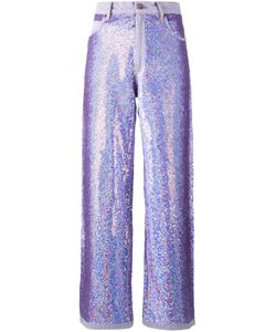 Ashish | Wide Leg Sequin Jeans Medium Cotton/Sequin