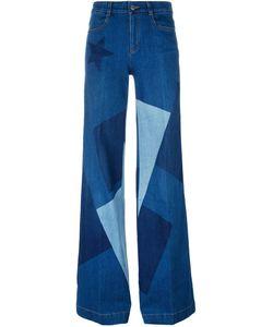 Stella Mccartney | Wide Leg Patchwork Jeans 29 Cotton/Polyester/Spandex/Elastane