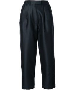 Isa Arfen | Cropped Tapered Trousers 8 Silk/Cotton