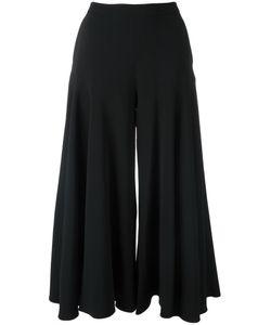 OSMAN | High-Rise Wide-Legged Cropped Trousers 8 Acetate/Viscose