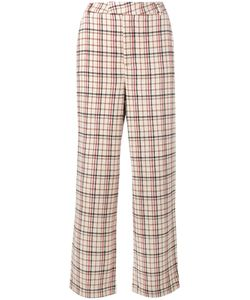 Ganni | Duncan Check Trousers Xs Acetate/Viscose/Wool