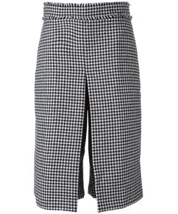 J.W. Anderson | J.W.Anderson Box Pleat Houndstooth Culottes 10 Cotton/Polyamide/Wool