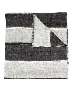 Denis Colomb   Dolpo Wide Stripe Shawl Adult Unisex Cotton/Cashmere