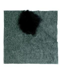 CUTULI CULT | Possum Fur Panel Tweed Shawl Nylon/Wool/Possum Fur