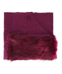 CUTULI CULT | Fur Panel Tweed Shawl Nylon/Wool/Possum Fur